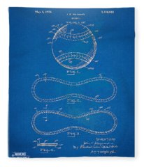 1928 Baseball Patent Artwork - Blueprint Fleece Blanket