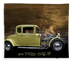 1930 Ford Coupe Fleece Blanket