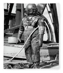 1930s 1940s Full Figure Of Man Fleece Blanket