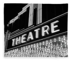 1930s 1940s Theater Marquee Theatre Fleece Blanket