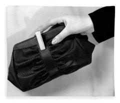 1930s Womans Hand Holding Purse Handbag Fleece Blanket