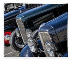 1932 Ford Roadster Coupes With Louvered Hoods Fleece Blanket