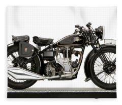 1938 Velocette Mac 350 Motorcycle Fleece Blanket