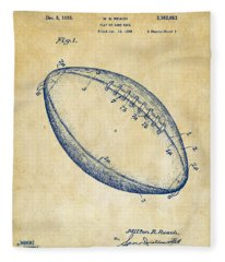 1939 Football Patent Artwork - Vintage Fleece Blanket