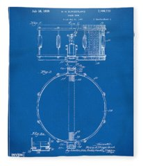1939 Snare Drum Patent Blueprint Fleece Blanket