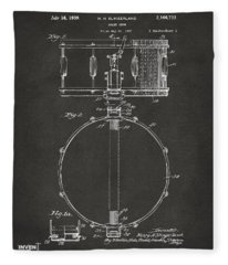 1939 Snare Drum Patent Gray Fleece Blanket