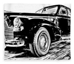 1940 Buick Century Fleece Blanket