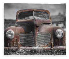 1940 Desoto Deluxe With Spot Color Fleece Blanket