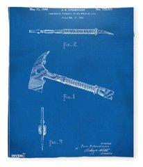 1940 Firemans Axe Artwork Blueprint Fleece Blanket