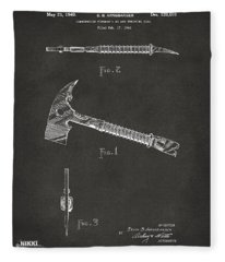 1940 Firemans Axe Artwork - Gray Fleece Blanket