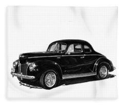 1940 Ford Restro Rod Fleece Blanket