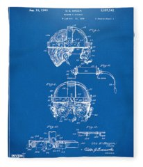 1940 Welders Goggles Patent Artwork Blueprint Fleece Blanket
