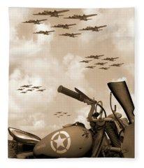 1942 Indian 841 - B-17 Flying Fortress' Fleece Blanket