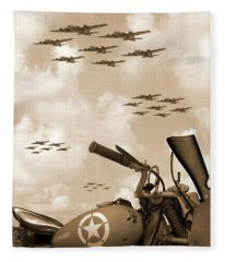 1942 Indian 841 - B-17 Flying Fortress' Fleece Blanket
