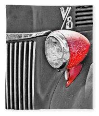1944 Ford Pickup - Headlight - Sc Fleece Blanket