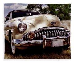 1946 Buick Super Eight Fleece Blanket