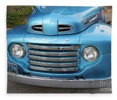 1948 F 1 Series Ford Pickup Truck Fleece Blanket