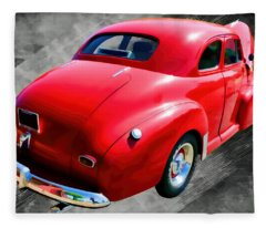1948 Series 2100 Fk Fleetmaster Gangster Red On Asphalt Fleece Blanket