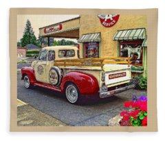 1949 Chevy Truck Fleece Blanket
