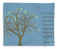 195- Marcel Proust Fleece Blanket