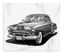 American Car Drawings Fleece Blankets