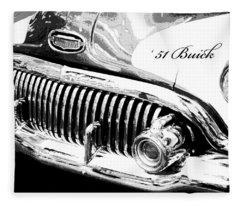 1951 Buick Super Digital Art Fleece Blanket