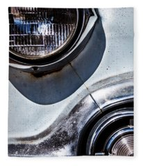 1953 Chevy Headlight Detail Fleece Blanket