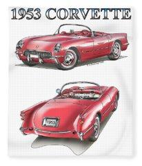 1953 Corvette Fleece Blanket