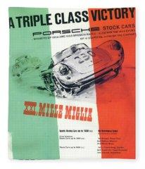 1954 Xxi Mille Miglia Fleece Blanket