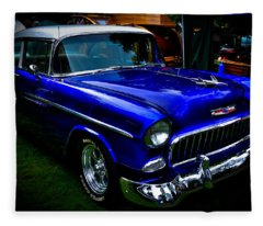 1955 Chevy Bel Air Fleece Blanket