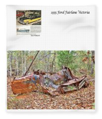 1955 Ford Fairlane Victoria Fleece Blanket
