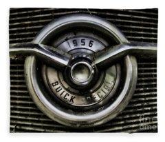 1956 Buick Special Two Fleece Blanket