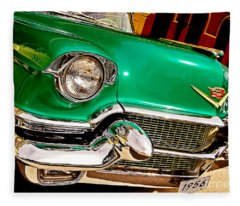 1956 Cadillac Detail Fleece Blanket