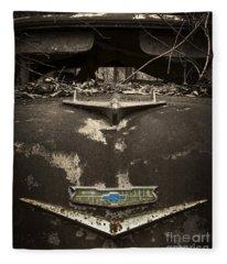 1956 Chevrolet Rust Bucket Sepia Toned Fleece Blanket