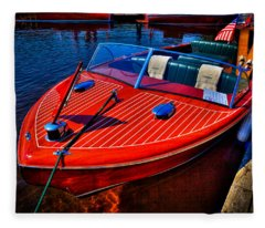 1956 Chris-craft Capri Classic Runabout Fleece Blanket
