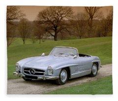 1957 Mercedes Benz 300sl 3.0 Litre Fleece Blanket