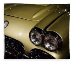 1958 Fancy Free Corvette J58s Fleece Blanket