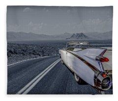 1959 Cadillac Eldorado Cool Night Fleece Blanket