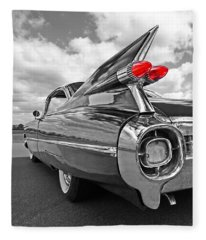 1959 Cadillac Tail Fins Fleece Blanket