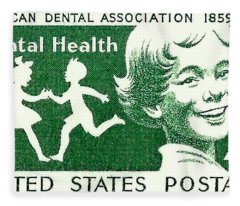 1959 Dental Health Postage Stamp Fleece Blanket