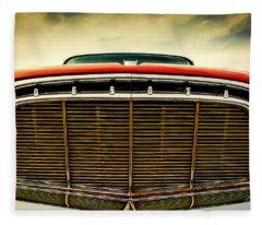 1960 Desoto Fireflite Coupe Grill Fleece Blanket