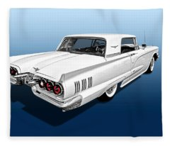1960 Ford Thunderbird Fleece Blanket