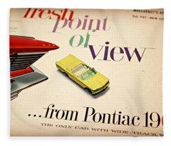 1960 Pontiac Matchbox Cover Car Fleece Blanket