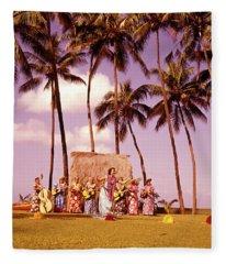 1960s Native Hawaiian Women Performing Fleece Blanket