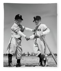 1960s Pair Of Little Leaguers Fleece Blanket