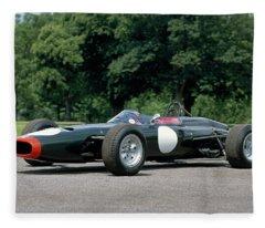 1964 Brm P261 Formula 1 Single-seat Fleece Blanket