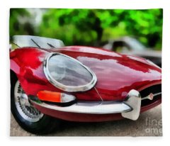 1967 Jaguar E Type Fleece Blanket