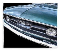 1967 Mustang Grille Fleece Blanket