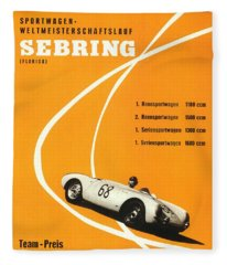 1968 Porsche Sebring Florida Poster Fleece Blanket