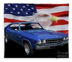 1969 Chevelle Tribute Fleece Blanket